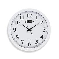 CARVEN CLOCK WALL ROUND WHITE 450mm 527726