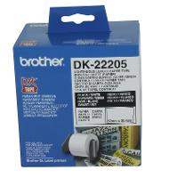BROTHER LABELS DK-22205 CONTINOUS PAPER 62mm X 30.48m WHITE