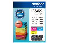 BROTHER LC235XL CMY HIGH YIELD INK CARTRIDGE PKT3