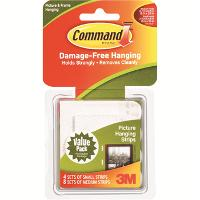 3M COMMAND 17203 PICTURE HANGING STRIPS COMBO PACK PKT12 525108