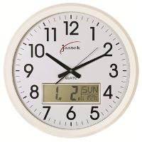 CARVEN 47CM CLOCK WITH LCD WHITE 527730