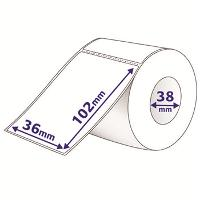 AVERY LABELS THERMAL 102 X 36MM 38MM CORE WITH PERFORATIONS ROLL500