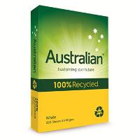 AUSTRALIAN COPY A4 80GSM 100% RECYCLED WHITE PAPER