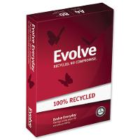 EVOLVE A4 80gsm 100 % RECYCLED WHITE COPY PAPER