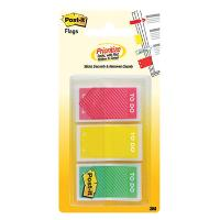 3M POST IT FLAGS 682-TODO 24X43MM TO DO RED YELLOW & GREEN PKT3