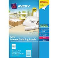 AVERY L7165 INTERNET SHIPPING LABELS 99.1x67.7mm 8/S WHITE PKT10 524535
