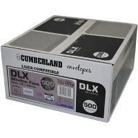 CUMBERLAND DLX 120x235mm SECRETIVE WINDOW LICK AND STICK LASER ENVELOPES