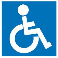 APLI SIGN SELF ADHESIVE DISABLED BLUE//WHITE