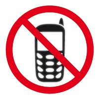 APLI SIGN SELF ADHESIVE NO MOBILE PHONES