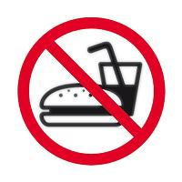 APLI SIGN SELF ADHESIVE NO EATING