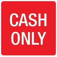APLI SIGN SELF ADHESIVE CASH ONLY