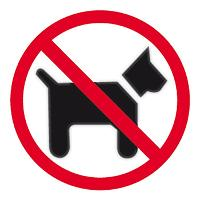 APLI SIGN SELF ADHESIVE NO DOGS ALLOWED