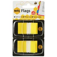 MARBIG FLAGS COLOURED TIP TWIN PACK YELLOW
