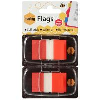 MARBIG FLAGS COLOURED TIP TWIN PACK RED