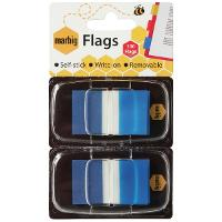 MARBIG FLAGS COLOURED TIP TWIN PACK BLUE