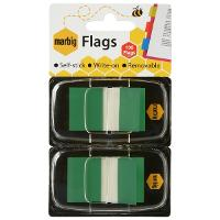 MARBIG FLAGS COLOURED TIP TWIN PACK GREEN