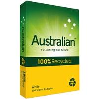 AUSTRALIAN A3 COPY 80GSM 100% RECYCLED WHITE PAPER