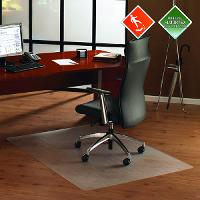 FLOORTEX PC ANTI SLIP HARD FLOOR CHAIRMAT 90X120CM RECTANGULAR