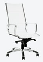 CHAIR COGRA HIGH BACK WHITE PU