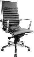 CHAIR COGRA HIGH BACK BLACK LEATHER