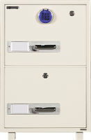 FIRE RATED FILING CAB 2 DRAWER DIGITAL LOCK 170KG 540H X 540W X 680D 634705