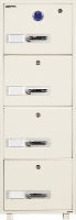 FIRE RATED FILING CAB 4 DRAWER DIGITAL LOCK 300KG 1530H X 540W X680D 527778