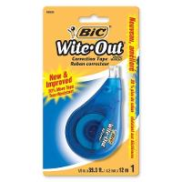 BIC CORRECTION TAPE  WITE OUT 4.2mm X 12m  WHITE 608845