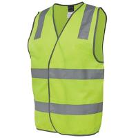 HI VIS HIGH VISIBILITY DAY/NIGHT SAFETY VEST LIME EXTRA LARGE