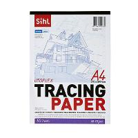 SIHL TRACING PAPER A4 62GSM TRANSPARENT PAD 50