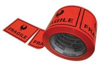 FRAGILE PERFORATED LABEL TAPE  75x50m