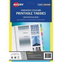 AVERY PRINTABLE TABBIES L7431 24/SHEET ASSORTED PKT2 494590