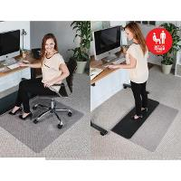 JASTEK SIT/STAND MAT 49558 114X134CM LOW PILE/HARD FLOOR RECTANGLE