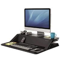 FELLOWES SIT/STAND WORK STATION LOTUS BLACK