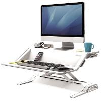 FELLOWES SIT STAND WORK STATION LOTUS WHITE