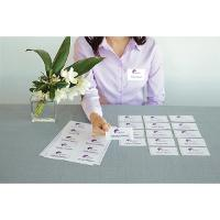 AVERY FABRIC NAME BADGES L7427 88.0X52.0MM 10/SHEET WHITE PKT15