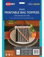 AVERY BAG TOPPERS L7142 48.0X137.0MM 4/SHEET WHITE PKT10