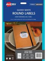 AVERY LABELS L7100 ROUND GLOSS 60.0MM DIA - DISCONTINUED NO LONGER AVAILABL