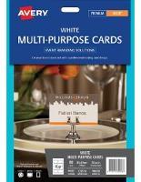 AVERY MULTIPURPOSE CARDS C32074 85.0X54.0MM 8/SHEET WHITE PKT10