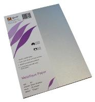 QUILL PAPER METALLIQUE A4 120GSM SILVER SHADOW PKT25