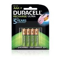 DURACELL RECHARGABLE AAA BATTERY PACK 4 NIMH 2300MAH