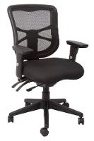CHAIR DAM FULLY ERGO MESH MEDIUM BACK SEAT SLIDE WITH ADJ.ARMS BLACK