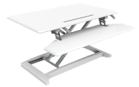 DESK RISER 1 WHITE SIT/STAND MONITOR & KEYBOARD RISER SMALL ZDR1W