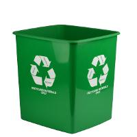 ITALPLAST RECYCLE WASTE ONLY BINS 15 LITRE GREEN