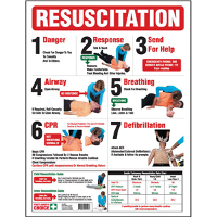 FIRST AIDERS CHOICE CHART RESUSCITATION GUIDE 637780