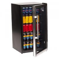 NERO BAR FRIDGE  90L GLASS DOOR