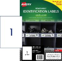 AVERY REMOVABLE LABELS L4775REV HEAVY DUTY 1 PER PAGE 208 X 295mm 649923
