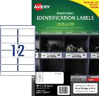 AVERY REMOVABLE LABELS L4776REV HEAVY DUTY 12 PER PAGE 99.1 X 42.3mm 649917