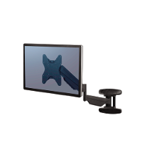 FELLOWES WALL MOUNT MONITOR ARMS SINGLE BLACK