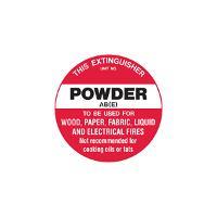 BRADY FIRE EXTINGUSHER IDENTIFICATION DISC B840972 AB(E) POWDER PP 200mm Di