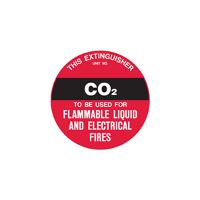 BRADY FIRE EXTINGUISHER IDENTIFICATION DISC B832899 CO2 PP 200mm Dia